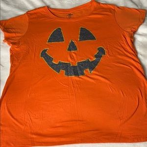 Orange Halloween pumpkin shirt size XL-XG (16-18)